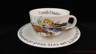 Alice in Wonderland Cup Saucer Set Paul Cardew Tea Coffee Great Condition Fr SHP