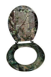 Realtree APG HD Camouflage Camo Bathroom Round Toilet Seat Lid