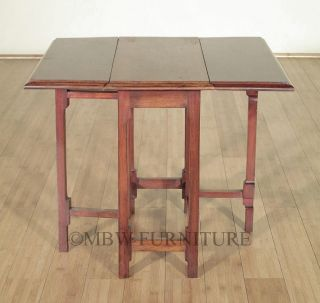 Antique English Mahogany Dropleaf Gateleg Coffee Table c1949 P09