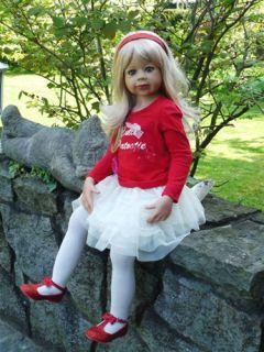 "Masterpiece Cutie Patootie Monika Levenig Doll 39"" Blonde Vinyl 9 Joints"