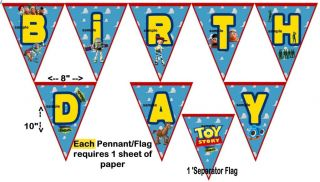 Toy Story Birthday Party Banner Large Printable