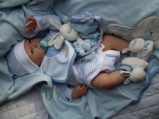 Baby Sunshine Reborn Boy Doll Noor by Adrie Stoete Special Edition Signed Body