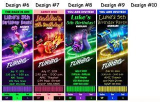 Turbo Snail Movie Birthday Party Ticket Invitations Supplies Favors Photo