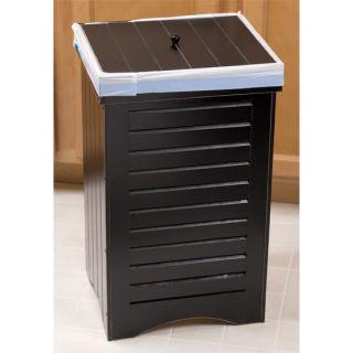 New Indoor Wooden Kitchen Garbage Trash Can Bin w Lid