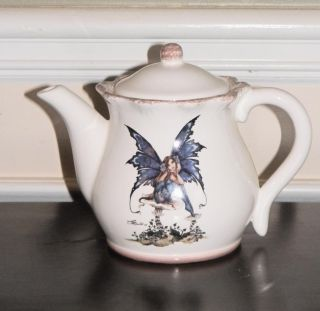 New Kitchen Fairy Large Teapot Hot Beverage Holder Amy Brown Retired Collection