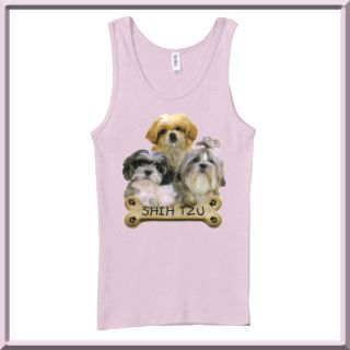 Shih Tzu Puppies Bone Dog Breed Womens Tank Tops s 2X
