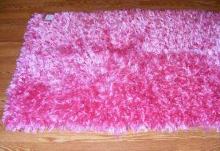 "3' x 5' Shimmer Eyelash Shag Area Rug Pink 36x60"" Large Soho Living Glitzy"