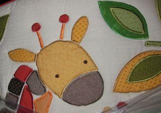 Kidsline Jungle Jigsaw 18 PC Baby Boy Girl Crib Bedding Set Musical Mobile