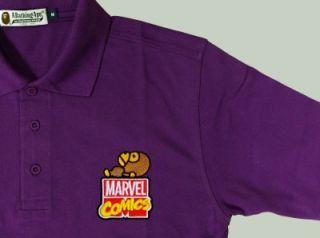 New Bathing Ape Men Polo Shirts Clothing Embroidered Baby Milo on Marvel Comics