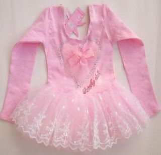 New Girl Leotard Ballet Tutu Dance Party Dress 2 7Y Toddler Costumes