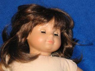 American Girl Bitty Baby Twin Doll Brown Long Hair Eyes