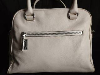 Michael Kors Large Leather Knox Satchel Vanilla Retail $328