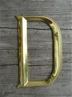 Beautiful Antique Gilded Brass Letter D Sign Letter Font Shop Sign