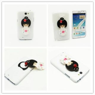 OC25 Glossy Case for Samsung Galaxy NOTE2 II N7100 3D Japanese Doll Mirror Cover