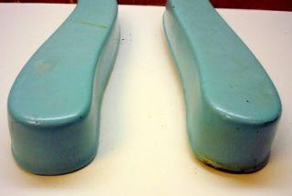 Antique Emil J Paidar Blue Porcelain Vtg Barber Chair Parts Arm Rest Armrest