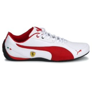 New Puma Drift Cat 5 Shoes Scuderia Ferrari White Leather Mens Trainers UK Size