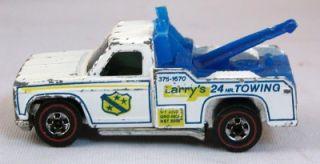Hot Wheels Redline Larry's 24 HR Towing Truck 1974