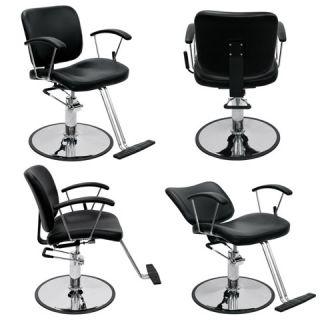 Black Beauty Salon Equipment Hydraulic Reclining Styling Chair Package 4X MP R3
