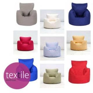 Childrens Kids Boys Girls Cotton Seat Chair Beanbag Bean Bag Unfilled Cover Only