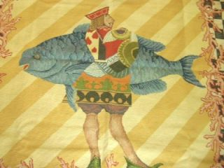 Victoria Richard Mackenzie Childs New Kingfish Needlepoint Rug RARE