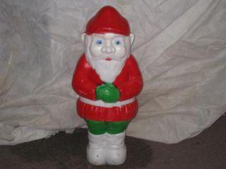 10 Christmas Blow Mold Yard Art Decoration Gnome Frosty Cane Mrs Mr Santa Claus