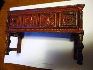 Old Antique Cast Iron Dollhouse Buffet Cabinet Arcade