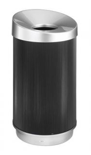 At Your Disposal Vertex Waste Receptacle in Black ID 37318