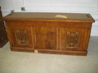 J L Metz Furnitur Antique Walnut China Cabinet Credenza Buffet Break Front Hutch