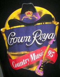 "Crown Royal ""Country Music 95"" Concert Tour T Shirt Black Adult XL Made USA"