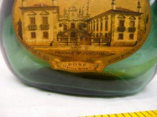 Mateus Sogrape Rose Still Wine Portugal Glass Bottle Antique Home Décor Vintage