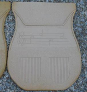 Vintage Schaff Piano Bench SAV A Rug Pedal Matt Pad Rubber 2 Music Notes