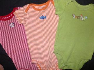 Baby Boy Newborn 0 3 3 6 Months One Piece Onesies T Shirt Clothes Lot