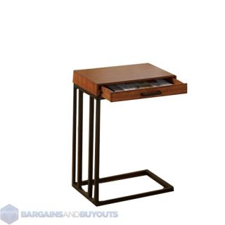 Expanding Tray Table Rubbed Walnut Set Of 2 End