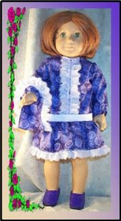"""Doll Clothes Fit 18"""" inch American Girl Molly School Dress Bag Lavender New"""