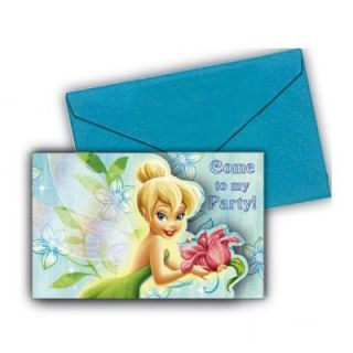 Birthday Party Supplies Tinkerbell Flower Invitations