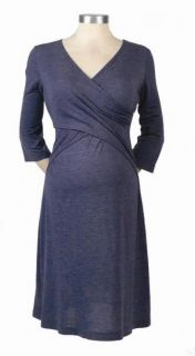 New Japanese Weekend Maternity Cross Front Nursing Dress XL 16 18 $78 Blue