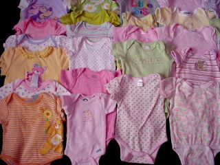 One Piece T Shirt Clothes Lot Baby Girl All 0 3 3 6 Months Under Shirt