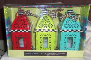 Cynthia Rowley Whimsical Lantern Votives Mackenzie Childs Courtly Check Bows
