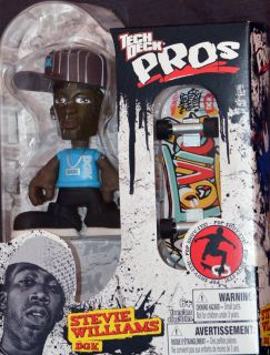 Tech Deck Pros Stevie Williams Action Figure DGK Finger Board Skateboard