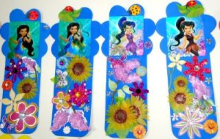 18 Disney Fairies Tinkerbell Party Favors Lenticular Flower Bookmarks Handmade