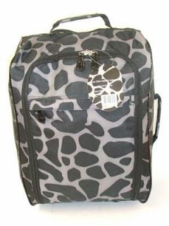 Giraffe Print 2 Wheeled Lightweight Hand Luggage Cabin Flight Travel Weekend Bag