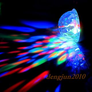 E27 3W Colorful Rotating RGB 3 LED Spot Light Bulb Lamp Fr Disco DJ Bar Party D8