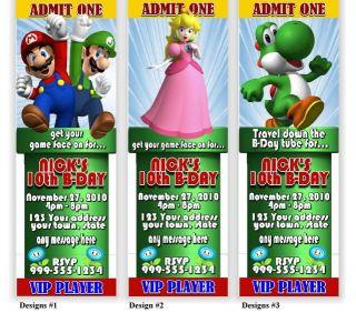 Super Mario Birthday Party Invitations Favors