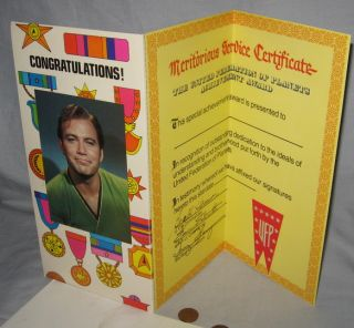 Activity Congratulations Card Star Trek '76 Vintage Kirk 5x10 in Closed
