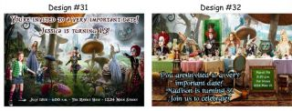 Alice in Wonderland Birthday Party Ticket Invitations Supplies Favors