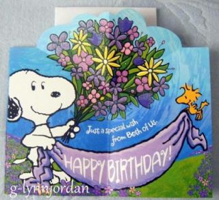 Snoopy Happy Birthday Dad Greeting Card