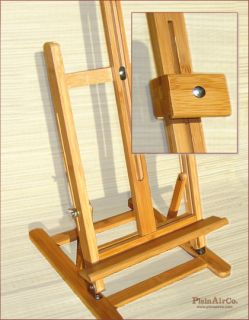 New Bamboo H Frame Table Artist Painting Easel on Sale