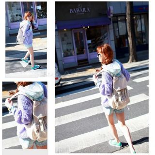 Men Women Punk Girl Cute Canvas Backpack Rucksack Gym School Shoulder Bag Beige