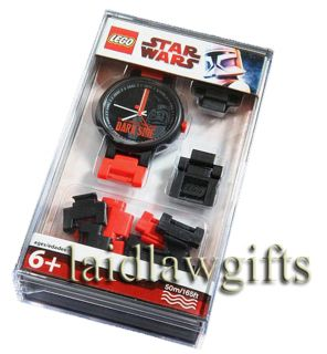 Star Wars Dark Side Darth Vader Lego Mens Black Red Watch Dark Side Logo Sith