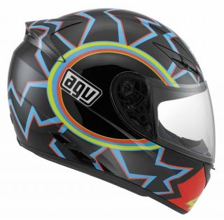 Agv K3 46 Rossi Full Face Race Touring City Motorcycle Helmet Black Blue Red
